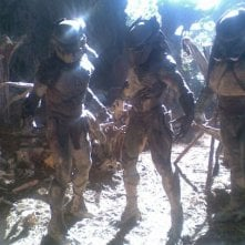 Gli alieni del film Predators (2010) sul set