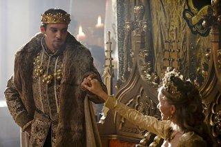 I Tudors: Tamzin Merchant e Jonathan Rhys Meyers nella premiere della stagione 4