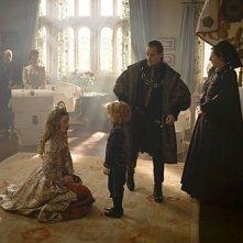 I Tudors: Tamzin Merchant, Jonathan Rhys Meyers, Eoin Murtagh e Jane Brennan nella premiere della stagione 4