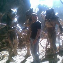Robert Rodriguez e i Predators (2010) sul set del film