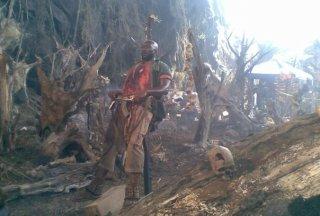 Un'immagine del set di Predators (2010)