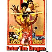 Locandina statunitense del film I tre dell'operazione drago (1973)