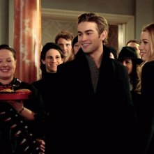Zuzanna Szadkowski, Connor Paolo, Chace Crawford e Blake Lively nell'episodio Inglourious Basstards di Gossip Girl