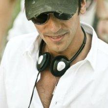 Il regista Marco Costa sul set del film Piazza Giochi