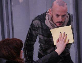 Filippo Nigro in una scena del film Dalla vita in poi