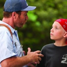 Jeffrey Johnson e il piccolo Tanner Maguire in un'immagine del film Letters to God