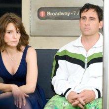Tina Fey e Steve Carell in un'immagine del film Notte folle a Manhattan