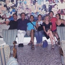 Antonio Orfanò con il cast di 'Upupa My Dream is My Rebel King': Giulio Fazio, Benedetto Sicca, Lorenza Caroleo, Cristina Sarasso, Andrea Fugaro, Elisabetta Becattini