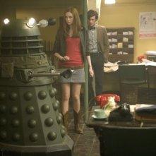 Doctor Who: Matt Smith e Karen Gillan in una scena della stagione 5