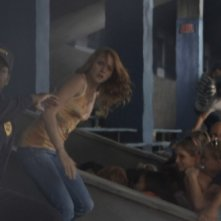 George (Mykelti Williamson), Lori (Shantel Vansanten) e Nick (Bobby Campo) in una scena dell'horror The Final Destination 3D