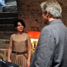 Juliette Binoche e William Shimell in una scena del film Copia conforme