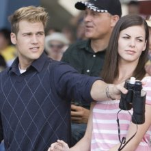 Nick Zano (Hunt) e Haley Webb (Janet) in una scena del film horror The Final Destination 3D