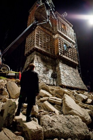 Una misteriosa torre sul set di Inception