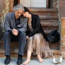William Shimell e Juliette Binoche in una scena del film Copia conforme