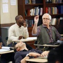 Community: Joel McHale e Chevy Chase in una scena dell'episodio Politics of Human Sexuality