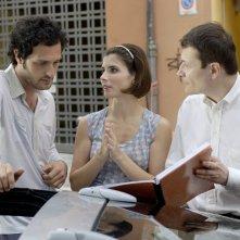 Fabio Troiano e Chiara Muti con il regista Carlo Sarti sul set di Goodbye, Mr. Zeus!