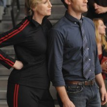 Jane Lynch e Matthew Morrison nell'episodio The Power of Madonna di Glee