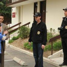 Jason London, Sean Murray e Michael Weatherly in un momento dell'episodio Guilty Pleasure di Navy NCIS