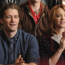 Jayma Mays e Matthew Morrison nell'episodio The Power of Madonna di Glee