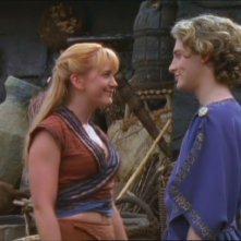 Renee O\'Connor e Dean O\'Gorman in Xena e l\'Accademia di Atene episodio di Xena principessa guerriera