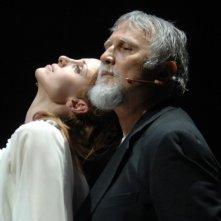 Federica Vincenti in scena con \'il mercante di Venezia in prova\' con Moni Ovadia (Teatro Argentina-Roma 2010)