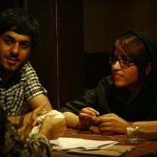 Negar Shaghaghi e Hamed Behdad in un'immagine del film I gatti persiani