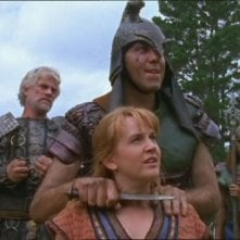 Tim Thomerson e Renee O\'Connor nell\'episodio Xena e il guerriero Melicerte di Xena