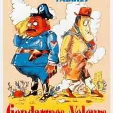 Locandina francese del film Guardie e ladri (1951)