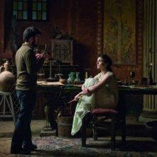 Alejandro Amenábar sul set del film Agora con Rachel Weisz