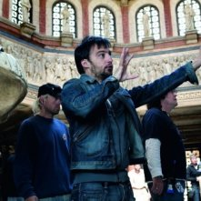 Alejandro Amenábar sul set del suo film Agora