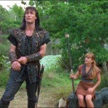 Joseph Kell e Renee O\'Connor nell\'episodio Xena e la maschera di Codro di Xena
