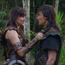 Lucy Lawless e Joseph Kell nell\'episodio Xena e la maschera di Codro di Xena