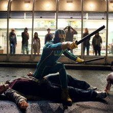 Una scena del film Kick-Ass con il protagonista Aaron Johnson