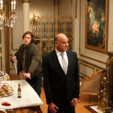 Jared Padalecki e Kurt Fuller in una scena dell'episodio Point of No Return di Supernatural