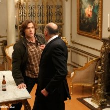 Jared Padalecki e Kurt Fuller nell'episodio Point of No Return di Supernatural