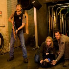 Radha Mitchell, Timothy Olyphant, Danielle Panabaker, Joe Anderson nel film The Crazies