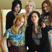 Un'immagine del gruppo rock: The Runaways nell'omonimo film