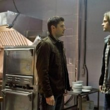King Lau, Jared Padalecki e Jensen Ackles in una scena dell'episodio Hammer of the Gods di Supernatural