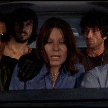 Maurice Poli insieme a Lea Lander, Riccardo Cucciolla, George Eastman e Don Backy in Semaforo Rosso