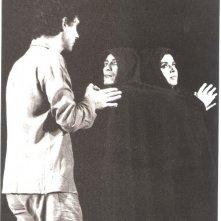 Antonio Orfanò dirige Mattia Machiavelli e Diletta Petronio durante le prove di Upupa the lif, prima fase