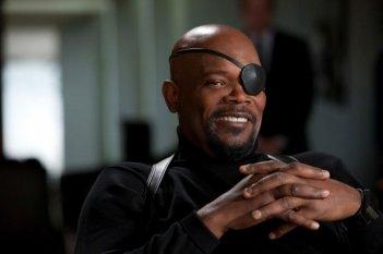 L'oscuro Nick Fury (Samuel L. Jackson) nel film Iron Man 2