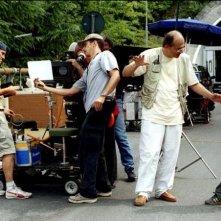 Lorenzo Valvassori e il regista Felice Farina sul set del film La fisica dell'acqua
