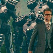 Sam Rockwell in un'immagine del film Iron Man 2
