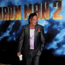 Un'immagine di Mickey Rourke dal photocall di Iron Man 2 a Los Angeles