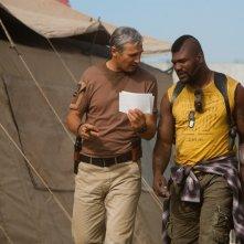 Liam Neeson e Quinton 'Rampage' Jackson in una scena del film A-Team