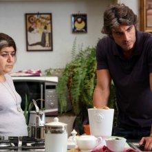 Serra Yilmaz e Daniele Liotti nel film Scontro di civiltà per un ascensore a Piazza Vittorio
