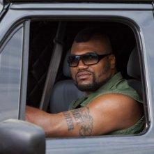 Un'immagine di Quinton 'Rampage' Jackson dal film A-Team