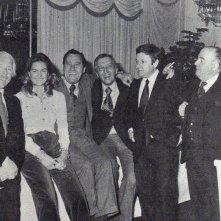 Giovanni Amati con Luciano Salce, Vittoria Amati, Alberto Sordi, Paolo Villaggio