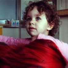 La piccola Asia Crippa, protagonista del film Non è ancora domani