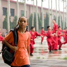 Jaden Smith interpreta Dre Parker in una sequenza del film Karate Kid